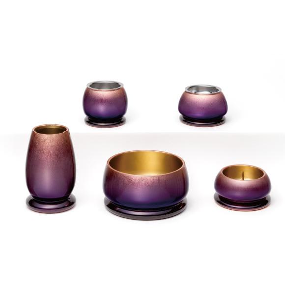 美麗5具足 銅箔グラデーション 銅の刻美