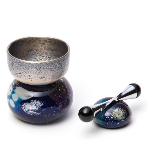 りんセット1.8号 美麗 ガラス台付 宇宙の美